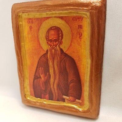 Saint Euthymios Euthymius Eutimio Agios Efthimios Greek Byzantine Orthodox  Con