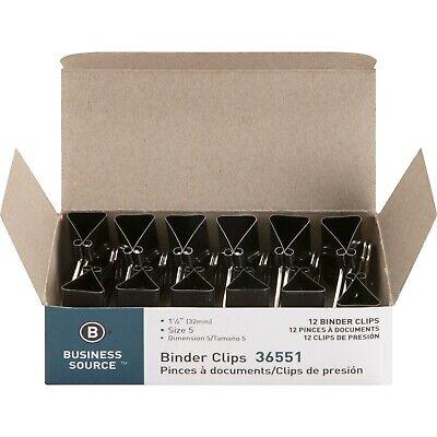 Business Source 36551 Binder Clip Medium 1-14-inch Steel 58-inch Cap1dz