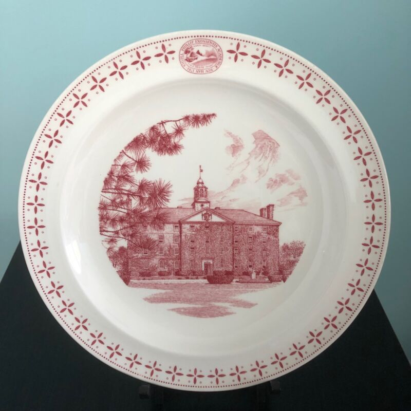 "PHILLIPS EXETER ACADEMY PLATE ""Amen Hall"" WEDGWOOD, 1956"
