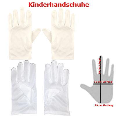19 cm lange Handschuhe für Kinder weiß Umfang - Lange Handschuhe Für Kinder
