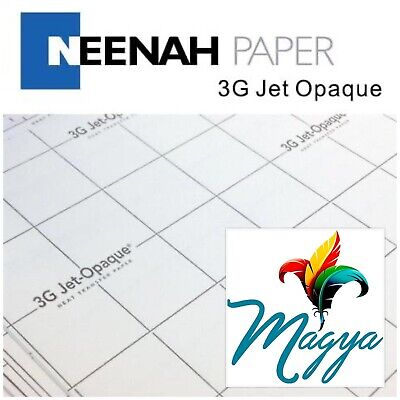 Neenah 3g Jet Opaque Heat Transfer Paper For Dark Colors 8.5x11 10 Sheets Usa