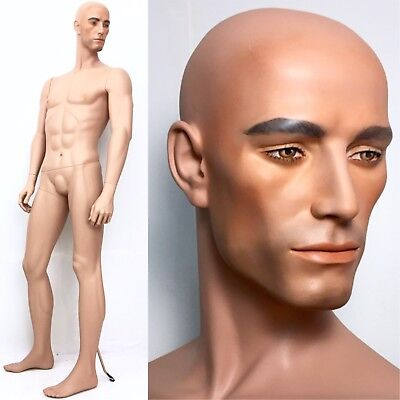 Realistic Male Mannequin Rare Vintage Decter Man Full Tall Muscular Head Face