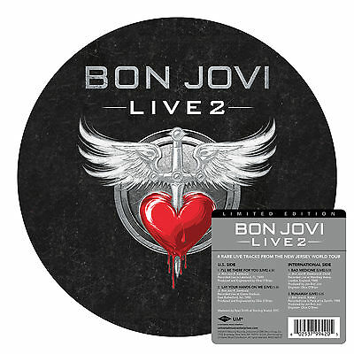 "BON JOVI Live 2 10"" Picture Disc Vinyl EP NEW (4 Tracks) Black Friday 2014"
