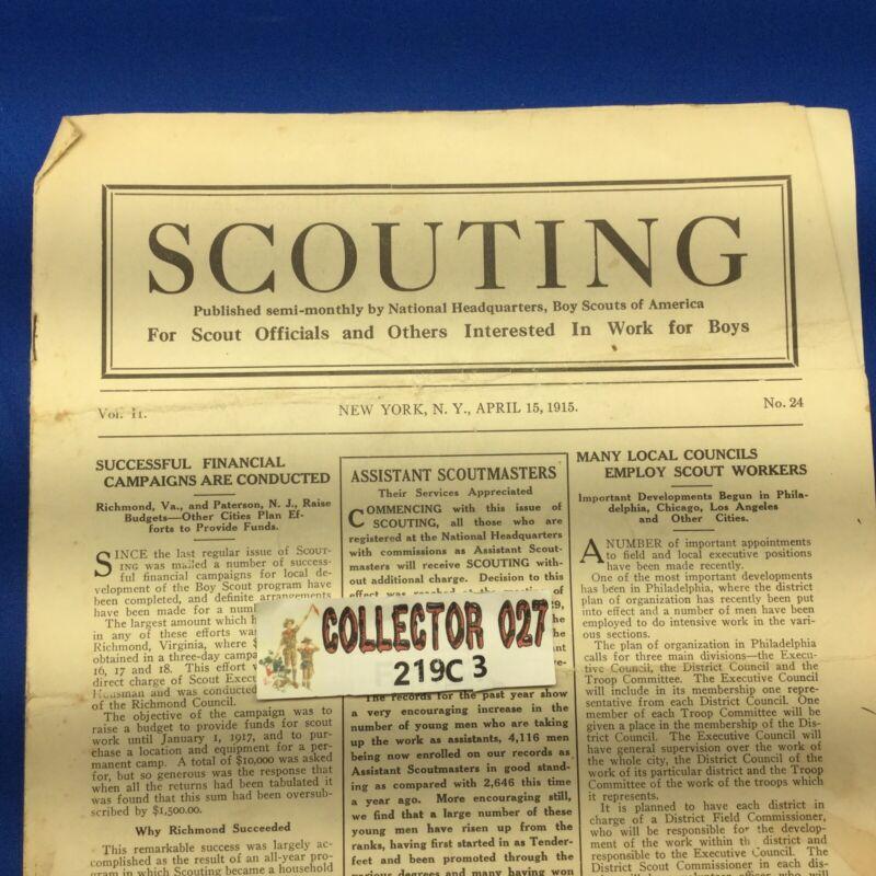 Boy Scout Vintage Scouting Magazine April 15, 1915