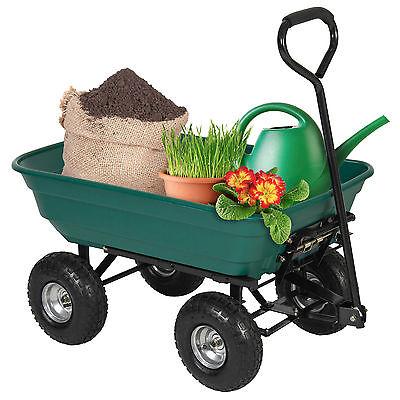 New Heavy Duty Wheel Barrow Dump Cart 650 lbs Capacity Air Tires Wagon Carrier
