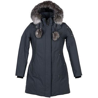 Moose Knuckles Parka Granite w/Frost Fox Women Large Coat/Jacket