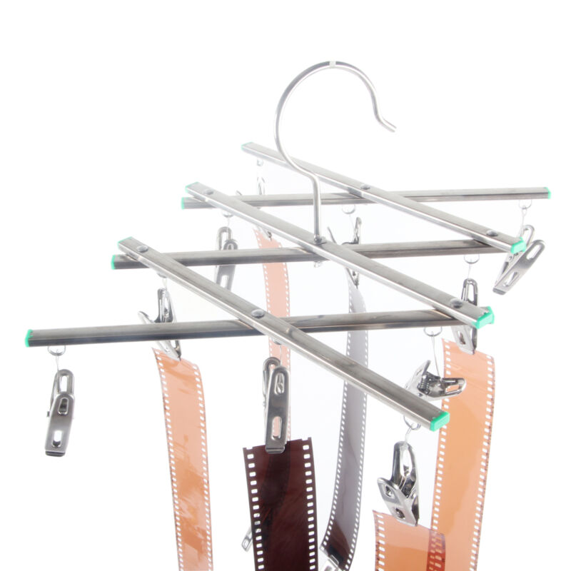 Collapsible Darkroom Film Drying Hanging Rack 135 35mm 120 Negative 20 Clips