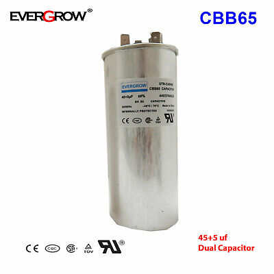 455uf Mfd Motor Dual Run Capacitor For Amana Heil Bryant Air Conditioner Ul Ce