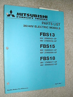 Mitsubishi Caterpillar Fbs13 Fbs15 Fbs18 Parts Manual Book Catalog Fork Lift