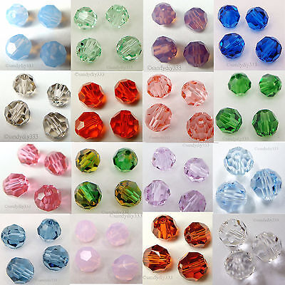 SWAROVSKI Crystal Element 5000 6mm Faceted Round Bead   Many Color  #1 6mm Crystal Round Bead