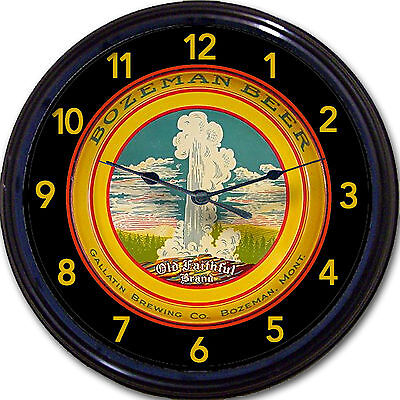 Bozeman MT Beer Tray Wall Clock Gallatin Brewing Co Ale Lager New 10""