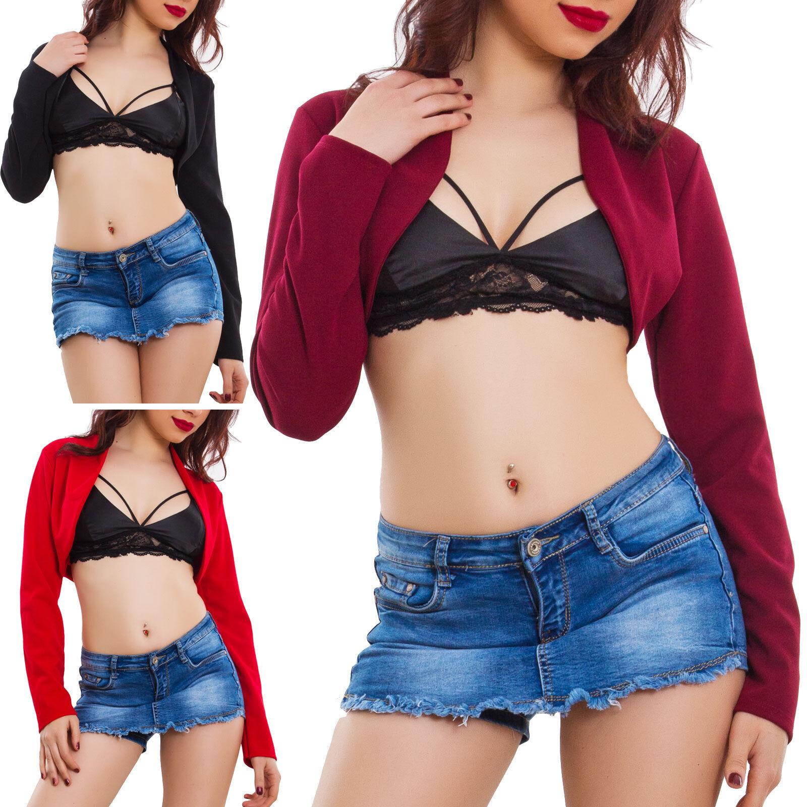 Coprispalle donna giacca bolero elegante basic maniche lunghe corto AS 1470