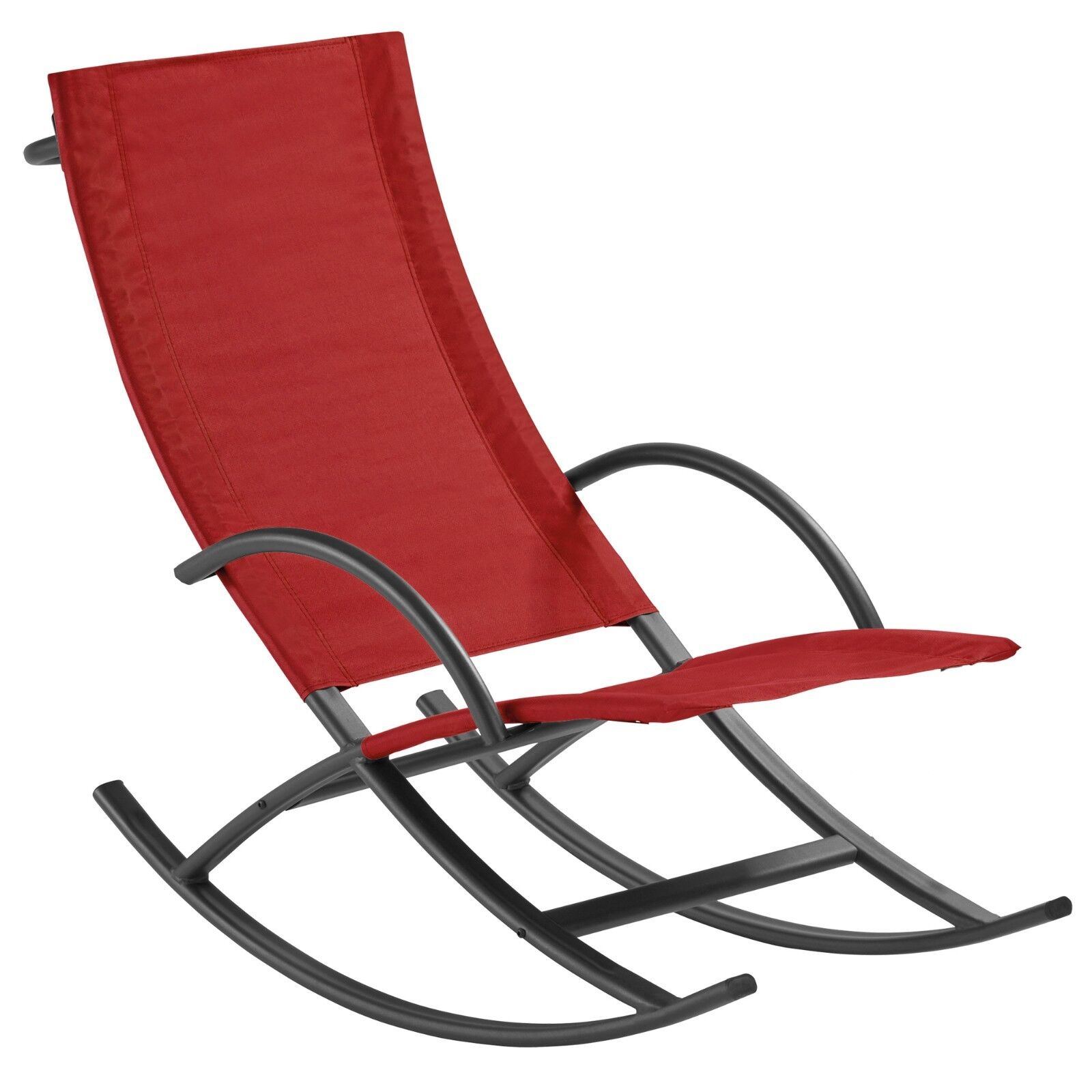 Details About Garden Rocking Chair Sun Lounger Zero Gravity Patio Decking Curved Swinging Seat