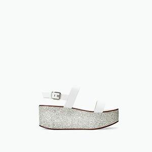 Zara Glitter Platform Sandals 106