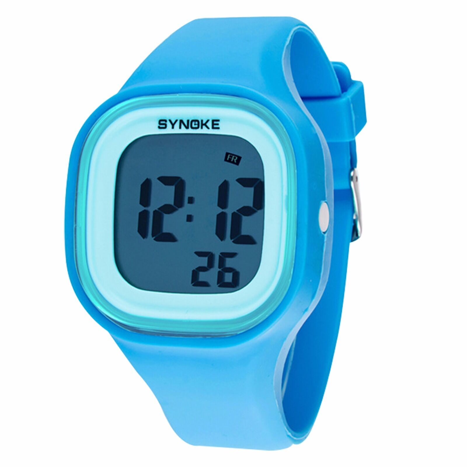 Synoke silicone led light digital waterproof sports kids girl boy wrist watches ebay for Watches for kids
