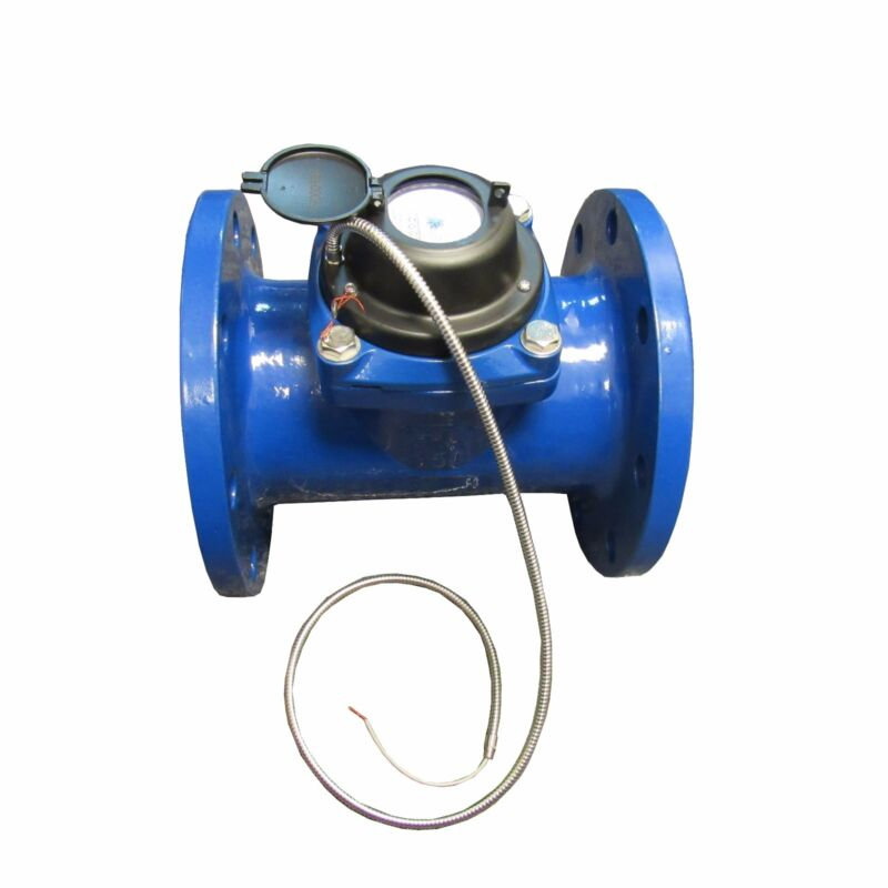 """New PRM 6"""" Woltmann-Helix Style Totalization Water Meter with Pulse"""