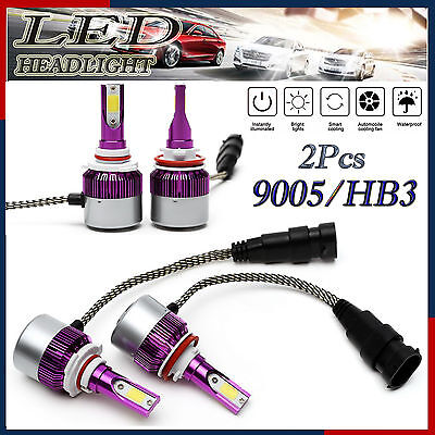 2Pc 9005 HB3 LED Headlight Conversion Bulb Kit High Beam Replacement 6000K White