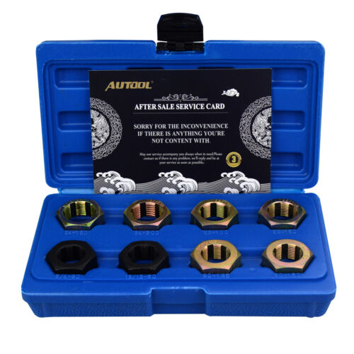 8Pc Axle Spindle Fractional Metric Rethreading Set CV Joint Thread Chaser Tools
