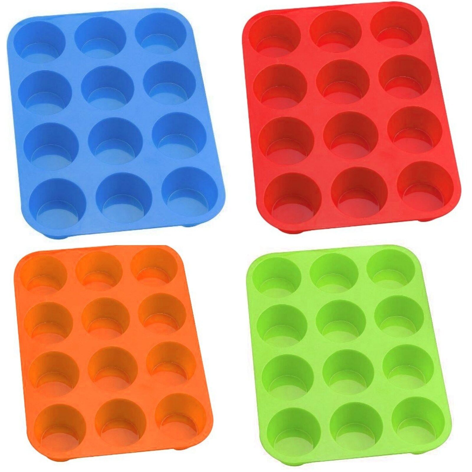 12er Muffinform Silikon Muffin Backform Muffinförmchen Kuchenform Cup Cake Form