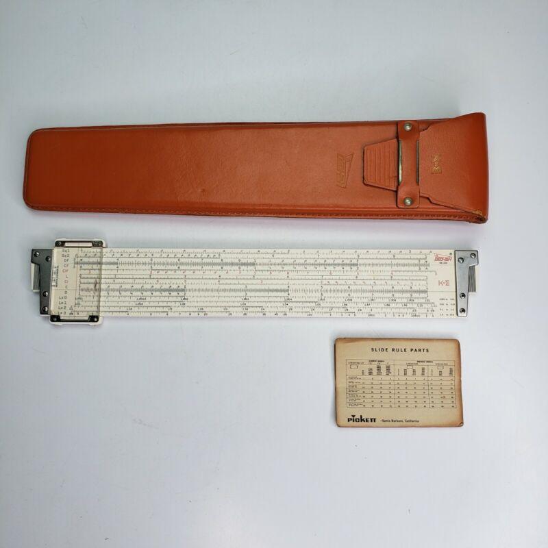 Vintage KEUFFEL & ESSER  K+E DECI-LON Slide Rule 68-1100 W/ Leather Case EXCELLE