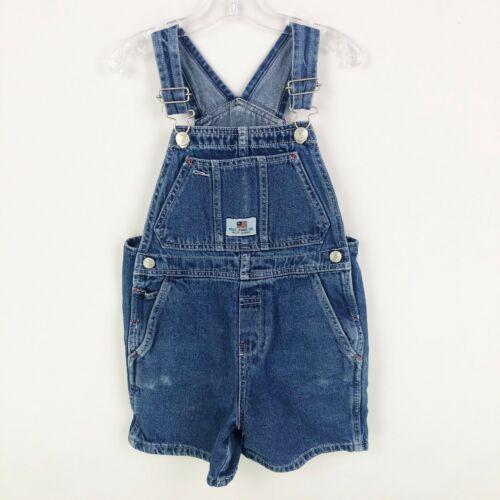 Vintage Polo Jeans Co Ralph Lauren Kids 4T Denim Jean Overall Shorts Shortalls