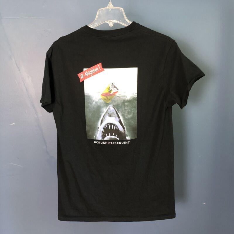 NARRAGANSETT BEER T-shirt Jaws Black Medium Quint Lager Brewery Cotton Graphic