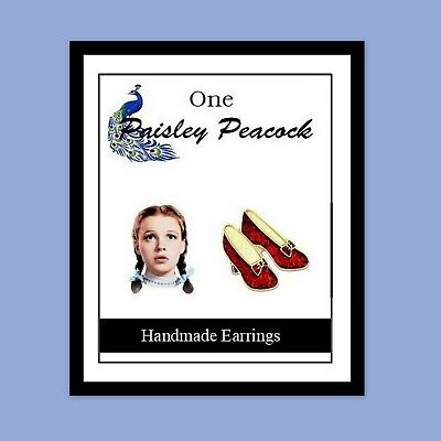 Wizard of Oz Earrings Dorothy and Ruby Red Slippers Wizard Of Oz Ruby Red Slippers