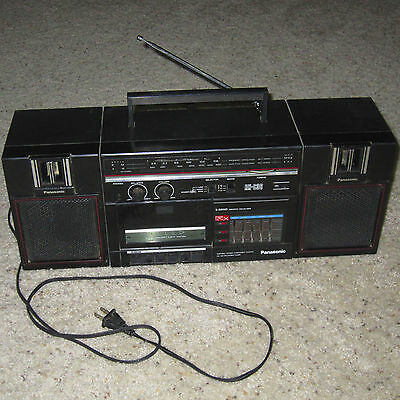 Vintage Retro Panasonic Boombox RX-C36 AM/FM Radio w/Detachable Speakers - Retro Boombox