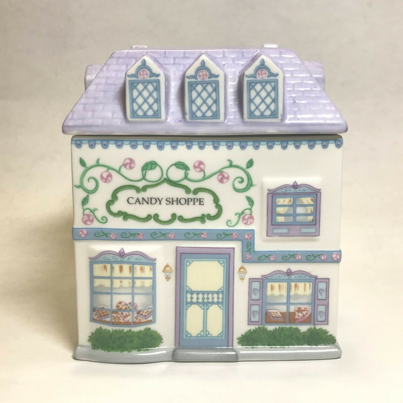 Lenox Village Candy Shoppe Canister With Lid Vintage 1993 EUC  - $44.97