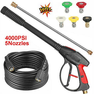 4000PSI Spray Gun High Pressure Washer Wand Lance Kit Car Water Cleaner 8M Hose