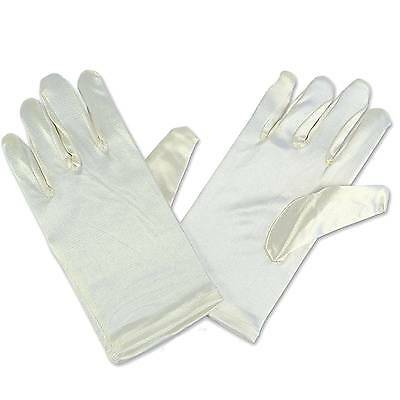 19 cm lange Handschuhe für Kinder Ivory Elfenbein - Lange Handschuhe Für Kinder