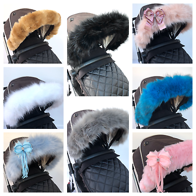 Beige For-Your-Little-One Fur Hood Trim Pram Compatible on Jane