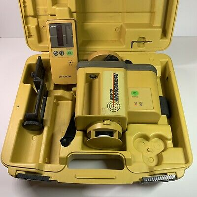 Topcon Rl-50b Rotary Laser Level With Receiver Clamp Case - Tested