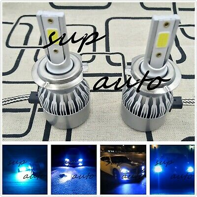 Blue Led Replacement Bulb - H7 CREE LED Headlight Bulb Conversion Kit High/Low Beam Fog Light 8000K ICE BLUE