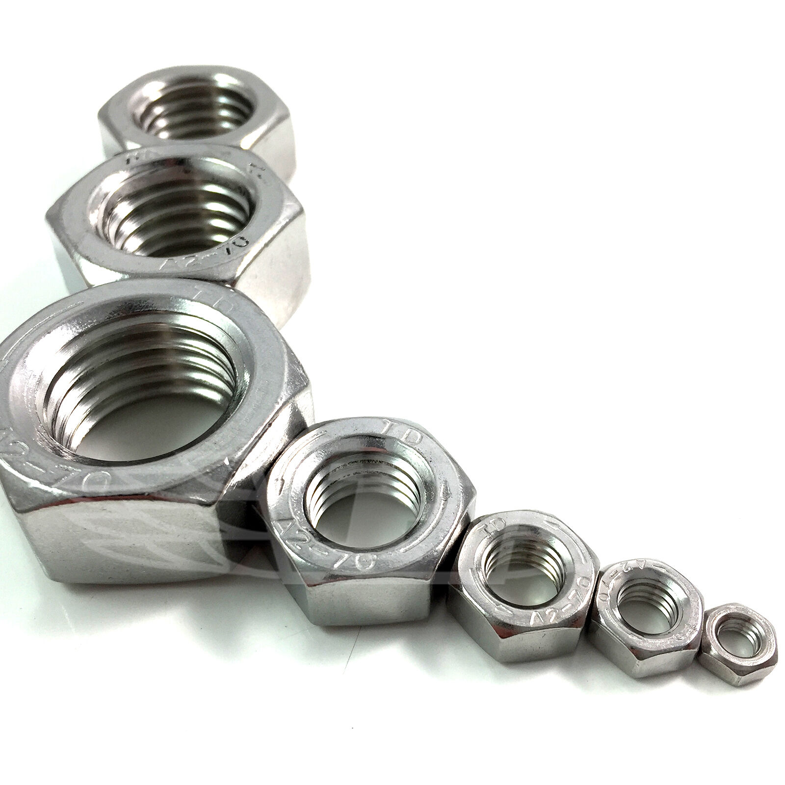M8 Hex Nut 4 A4 Stainless Steel Left hand thread DIN934 Pack Size
