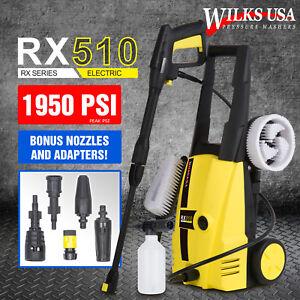 Electric Pressure Power Washer RX510 WILKS-USA 1950 PSI/1800W ~Karcher Adapter~