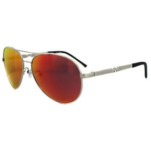 Police Sunglasses Legend 2 8746 589R Shiny Palladium  Red Mirror