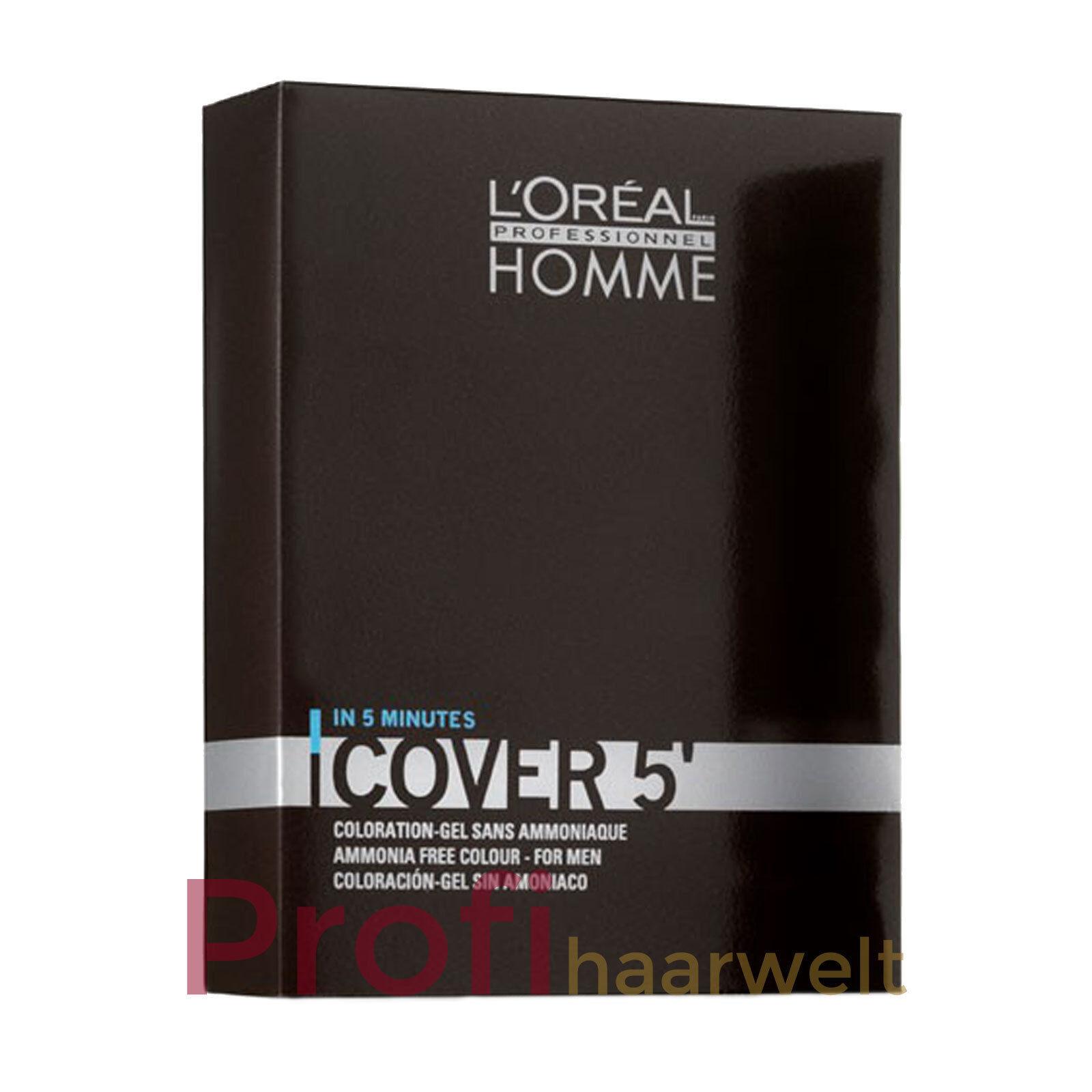 Loreal Homme Cover 5 Grauhaarkaschierung für Männer (alle Nuancen), 3 x 50 ml
