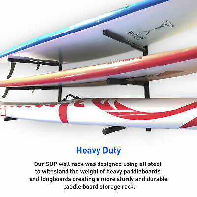 SUP Racks for Wall - 3 Level Paddle Board Storage Rack