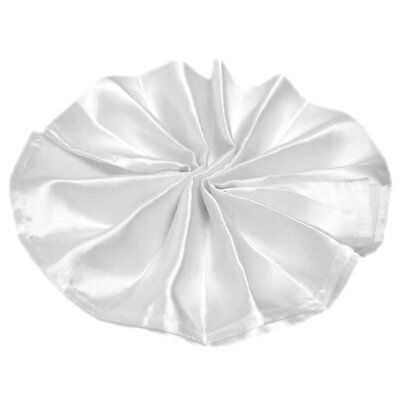 Package of 5 Satin Napkins - White ~Wedding Party Holiday Dinner Catering~ (White Napkins)