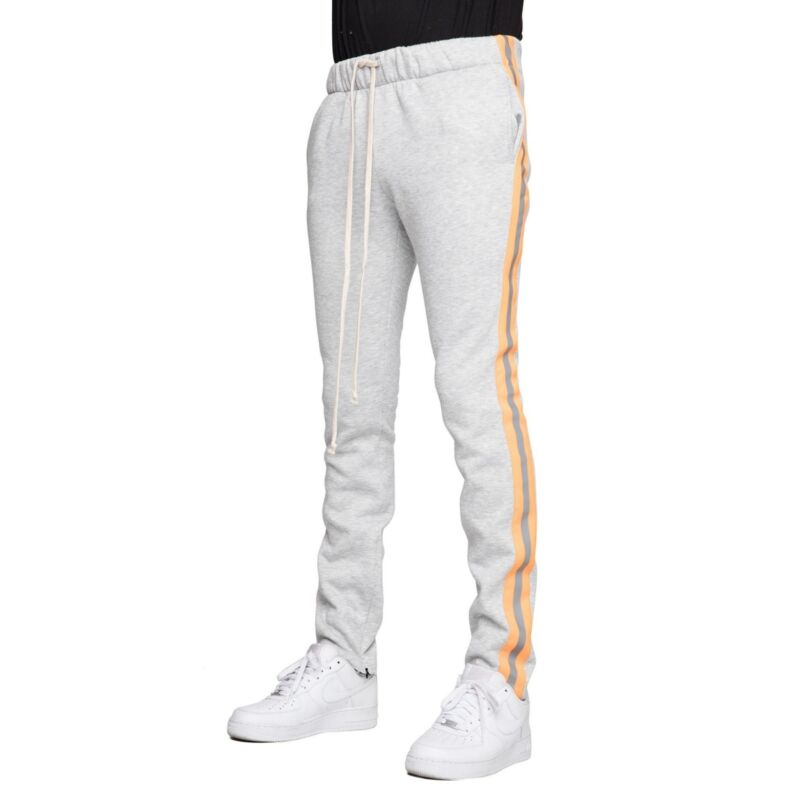 EPTM Men/'s Poly Side Ankle Zip Long Drawstring Techno Track Pants 100/% auth