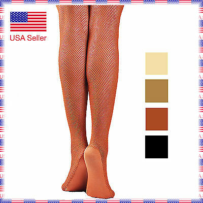 (5A(4 Colors)Women's Professional with Foot Panel Dance Fishnet Tight Stocking)