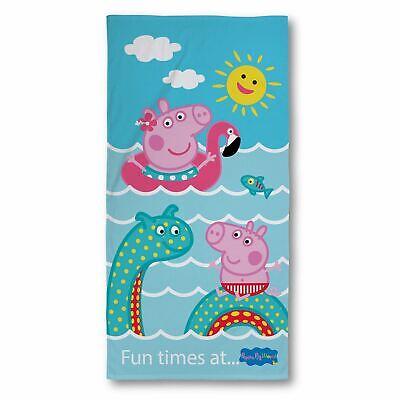 Peppa Pig Costa Toalla Infantil Playa de Baño Suave Velour