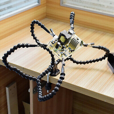 Third Helping Hands Tool Flexible Arms Soldering 5station Pcb Holder Desk Clamp