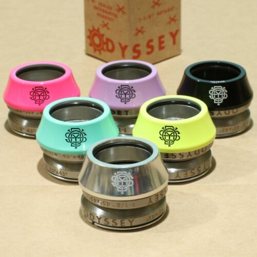 ODYSSEY BMX BIKE CONICAL INTEGRATED BICYCLE HEADSET BLACK YELLOW PINK POLISHED