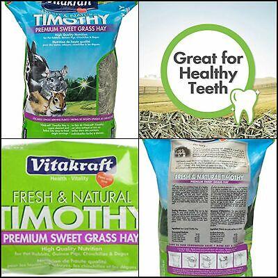 28Oz Vitakraft Timothy Hay Premium SweetGrass 100% American Grown Resealable Bag
