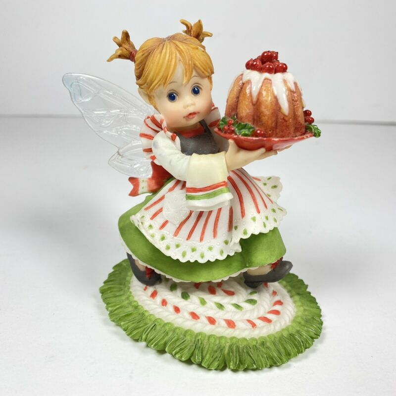 My Little Kitchen Fairies Plum Puddin Fairie 2008 Enesco 4010980 Rare EUC