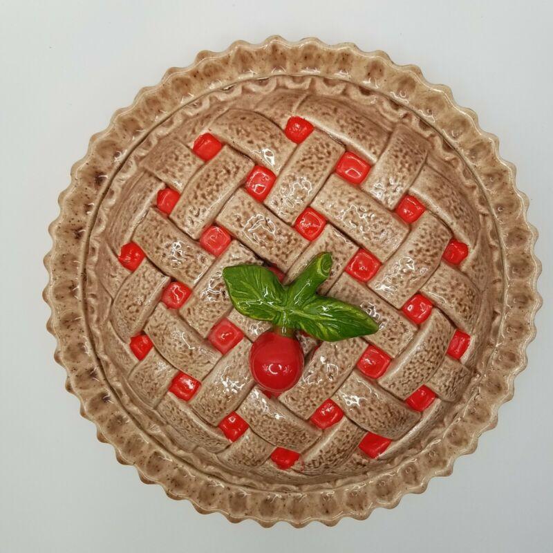 Cherry Lattice Pie Plate Dish Covered Keeper