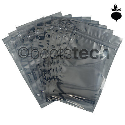 Anti-static Esd Shielding Bag Silver Zip-lock Reclosable Bags 3x5681014