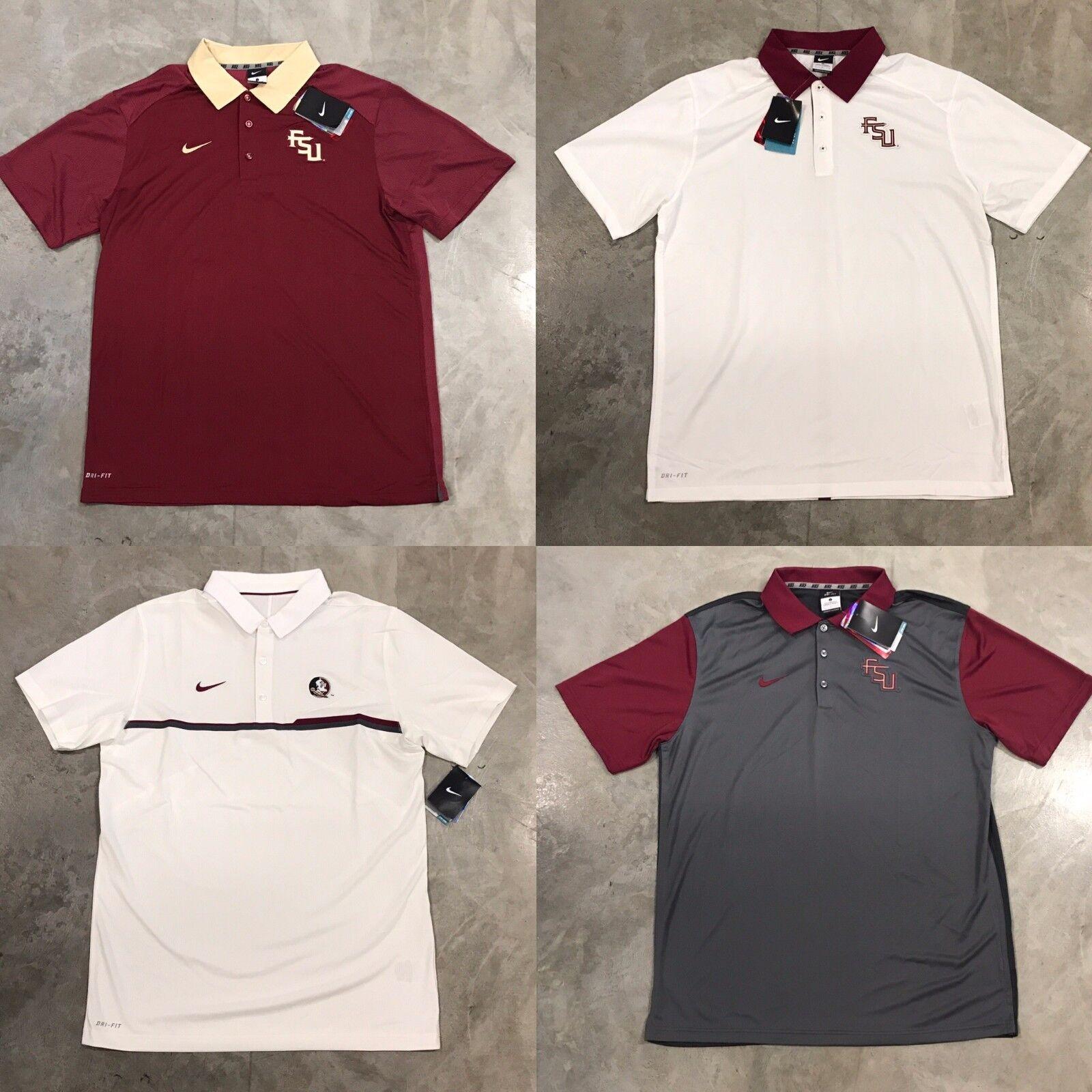 555a4e3a Nike Florida State Seminoles FSU Coaches Polo Preseason Elite Gameday  Garnet SZ